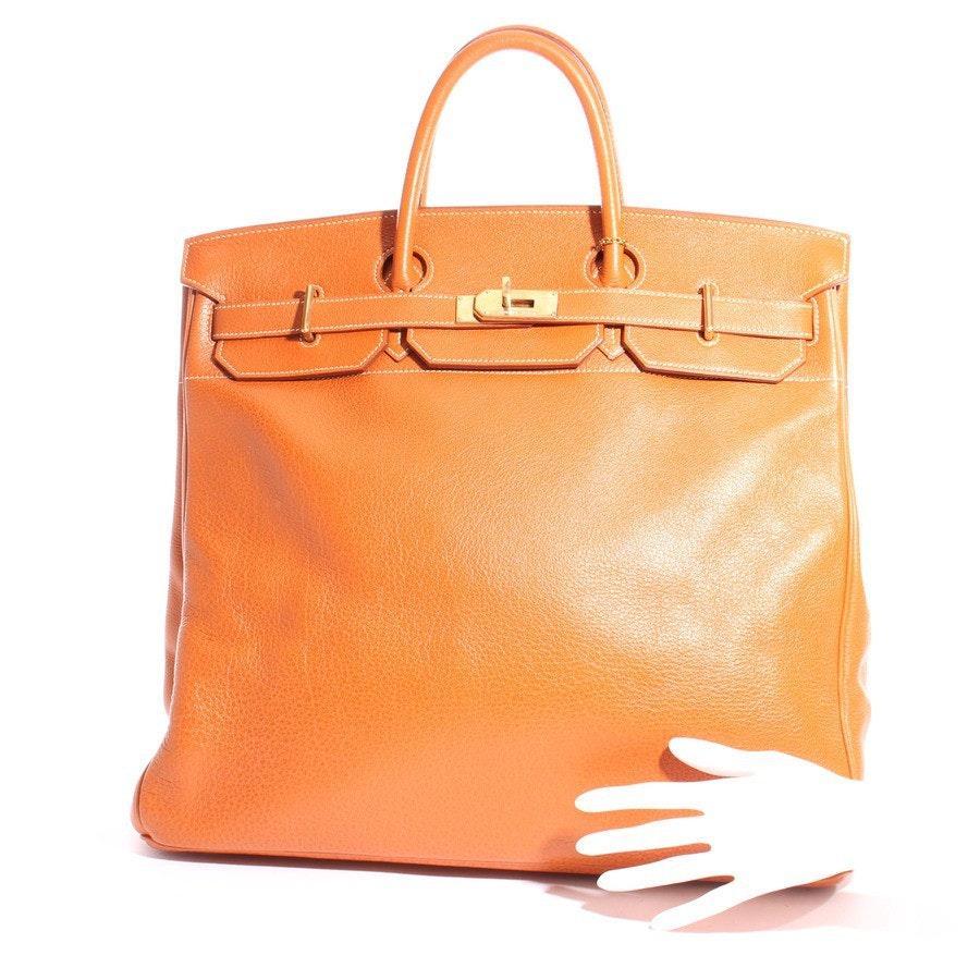 Weekender von Hermès in Cognac - Birkin HAC 45 Weekender