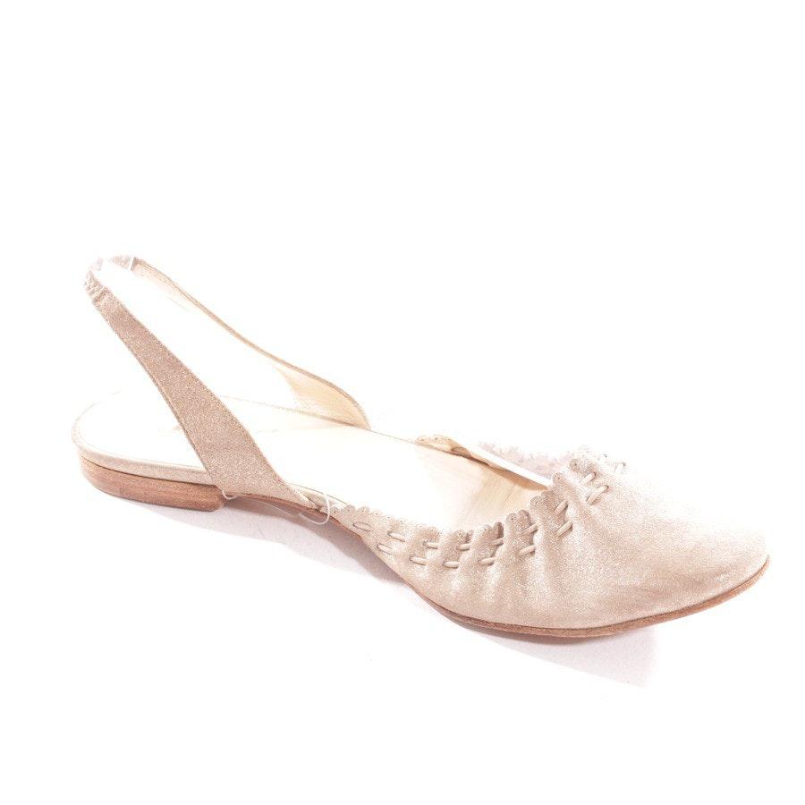 Sandalen von Hermès in Beige und Silber Gr. D 37