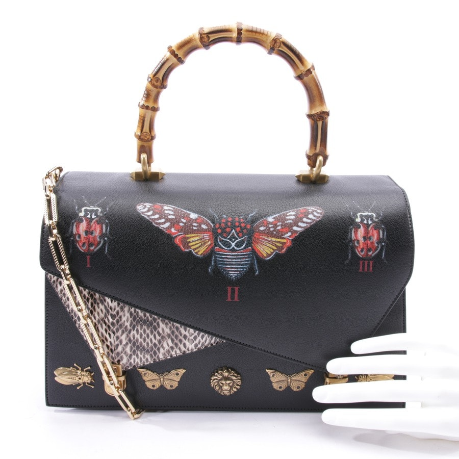 handbag from Gucci in black - magda medium insect display bamboo top-handle new!