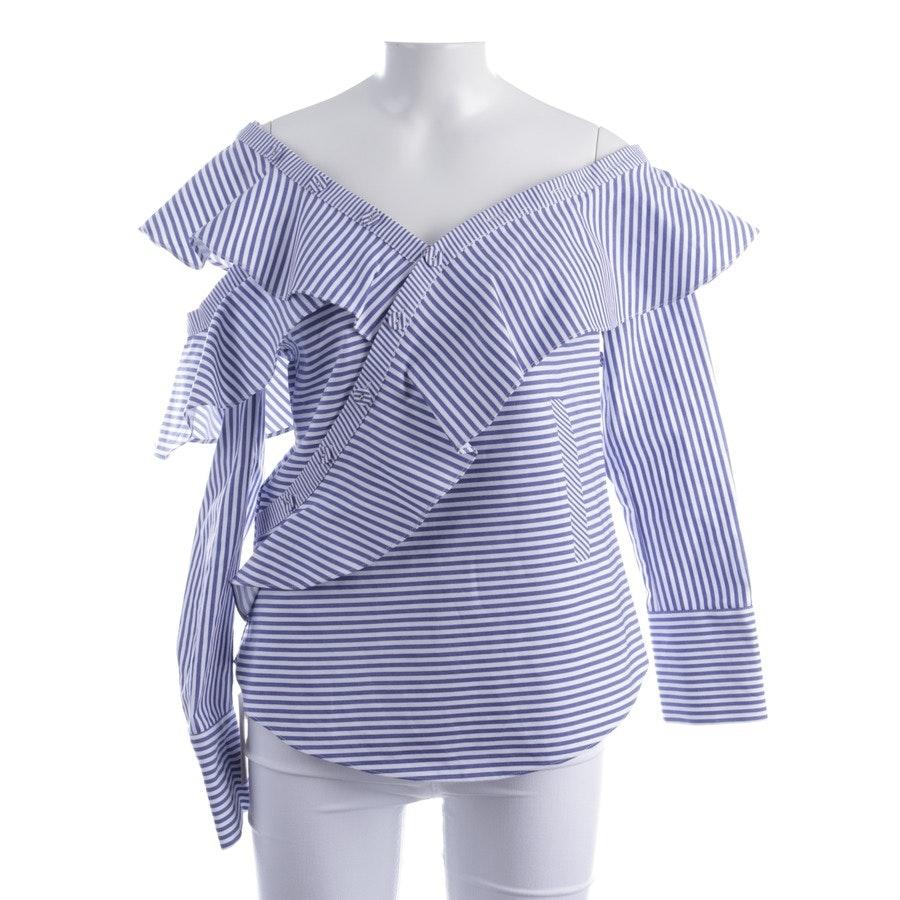 Bluse von self-portrait in Blau und Weiß Gr. 36 UK 10 - Neu