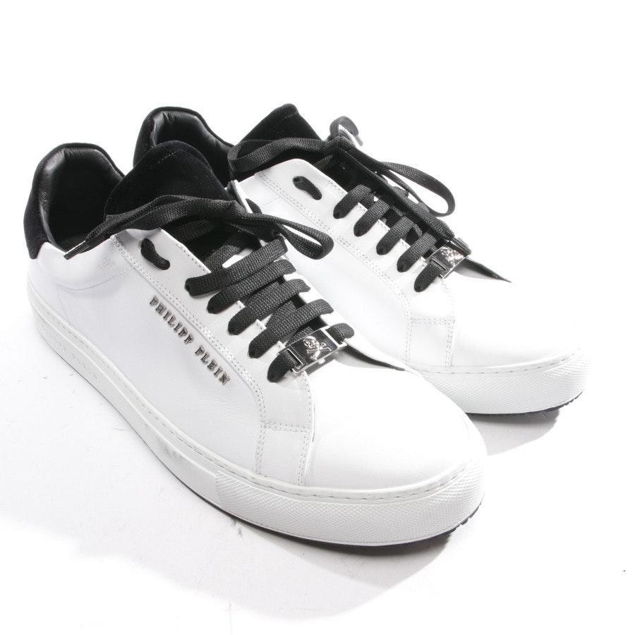 Sneaker von Philipp Plein in Weiß und Schwarz Gr. D 45 - Neu