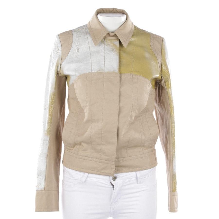 Übergangsjacke von Louis Vuitton in Beige und Weiß Gr. 40 FR 42