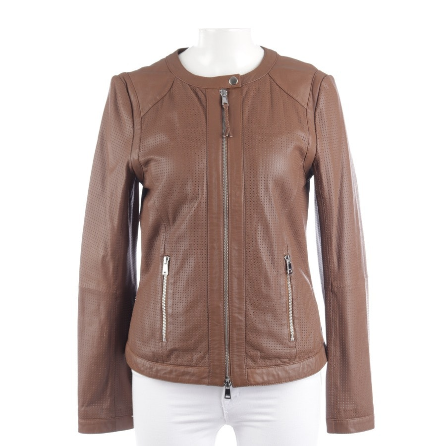 leather jacket from Oui in nougat size 38