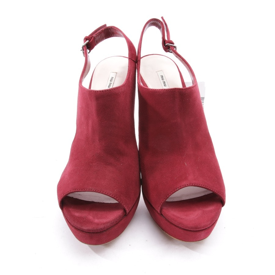 heeled sandals from Miu Miu in raspberry red size D 39