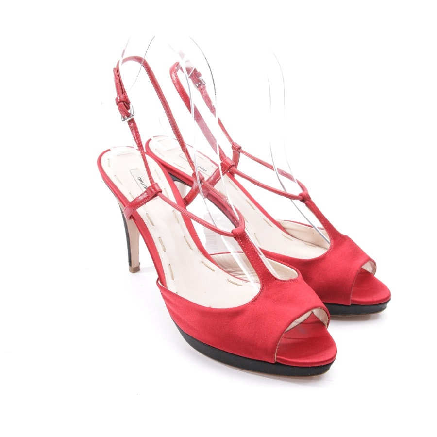 heeled sandals from Miu Miu in red size D 38