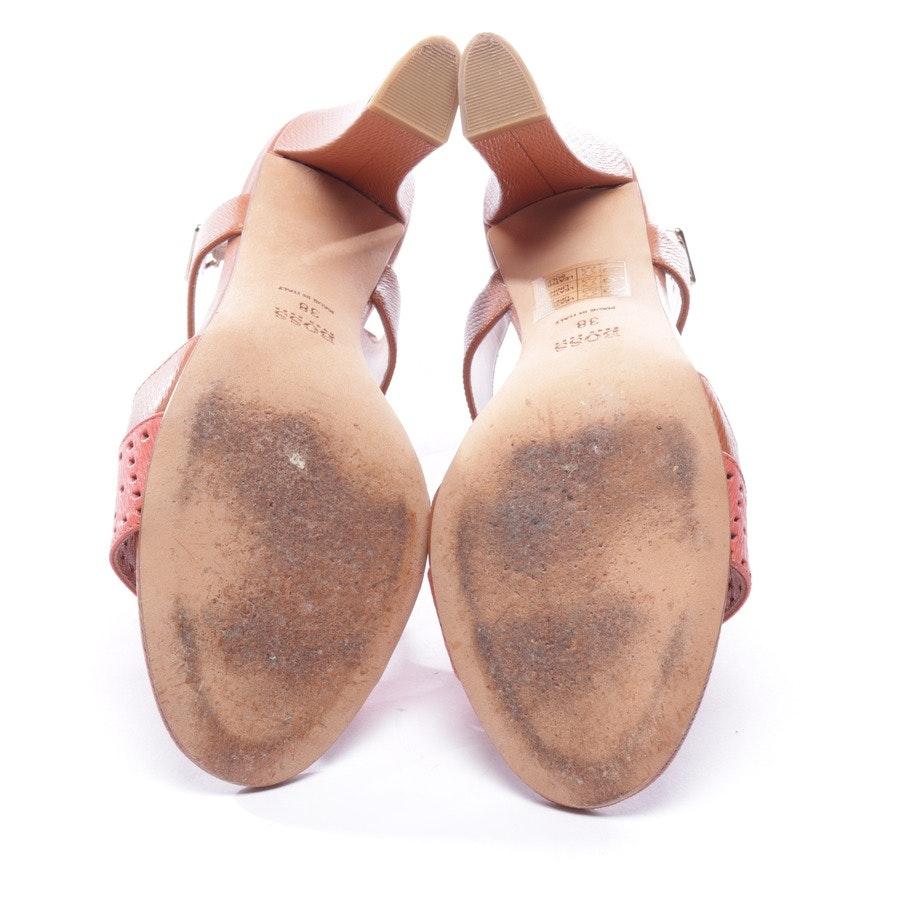 Sandaletten von Hugo Boss in Cognac und Rosa Gr. D 38 - Iride