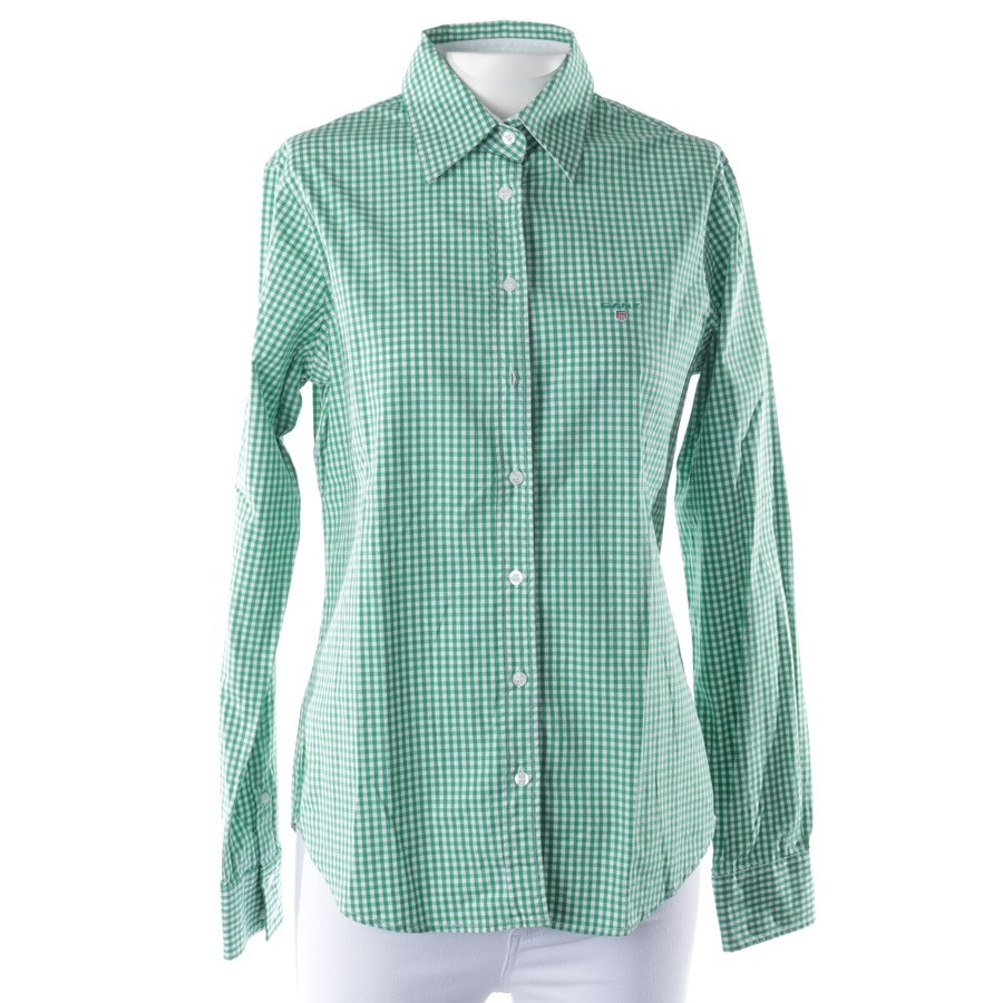 Bluse von Gant in Apfelgrün und Weiß Gr. 38