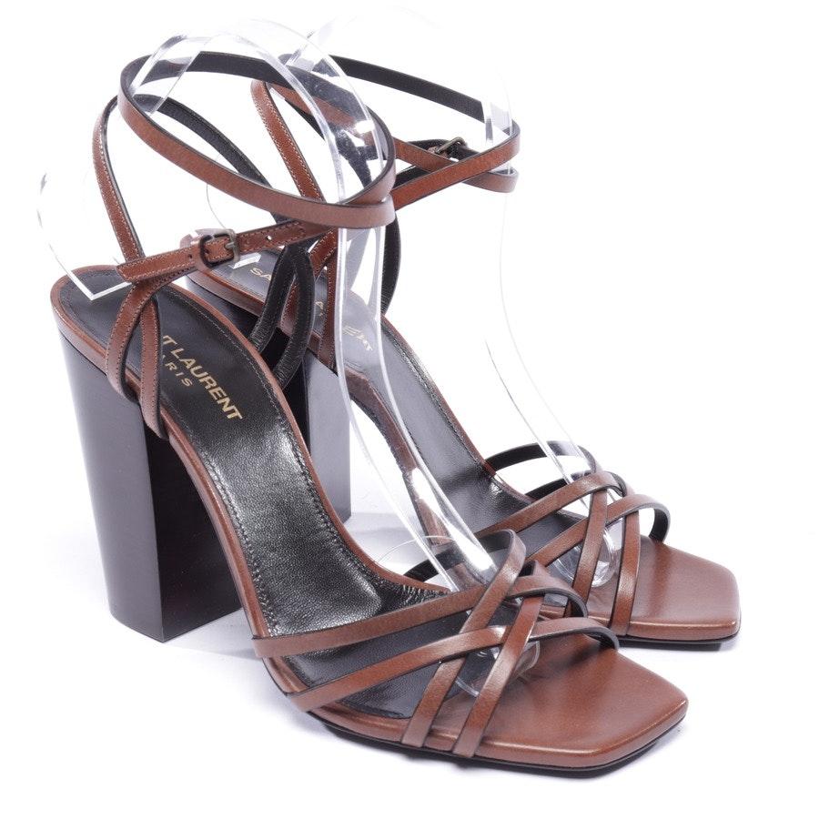 Sandaletten von Saint Laurent in Dunkelbraun Gr. EUR 40,5 - Neu