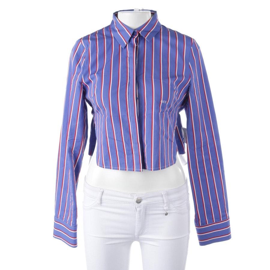 Bluse von Off-White in Blau und Weiß Gr. 40 - Neu