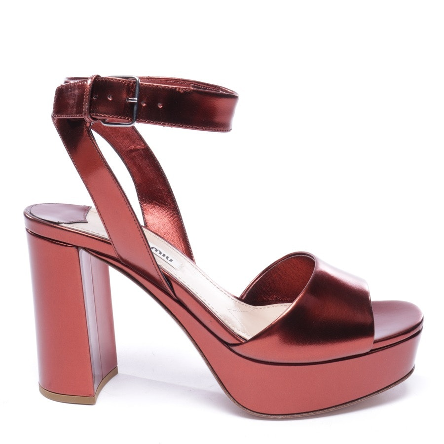 heeled sandals from Miu Miu in bordeaux size EUR 36 - new