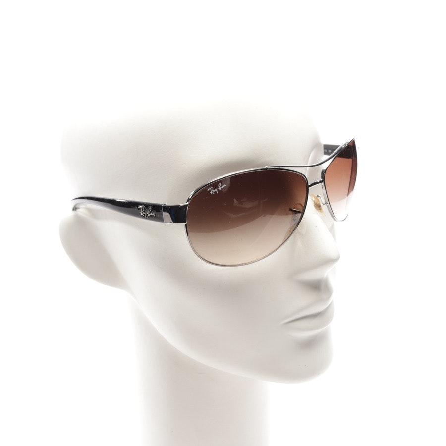 Sonnenbrille von Ray Ban in Silber und Schwarz - RB3386