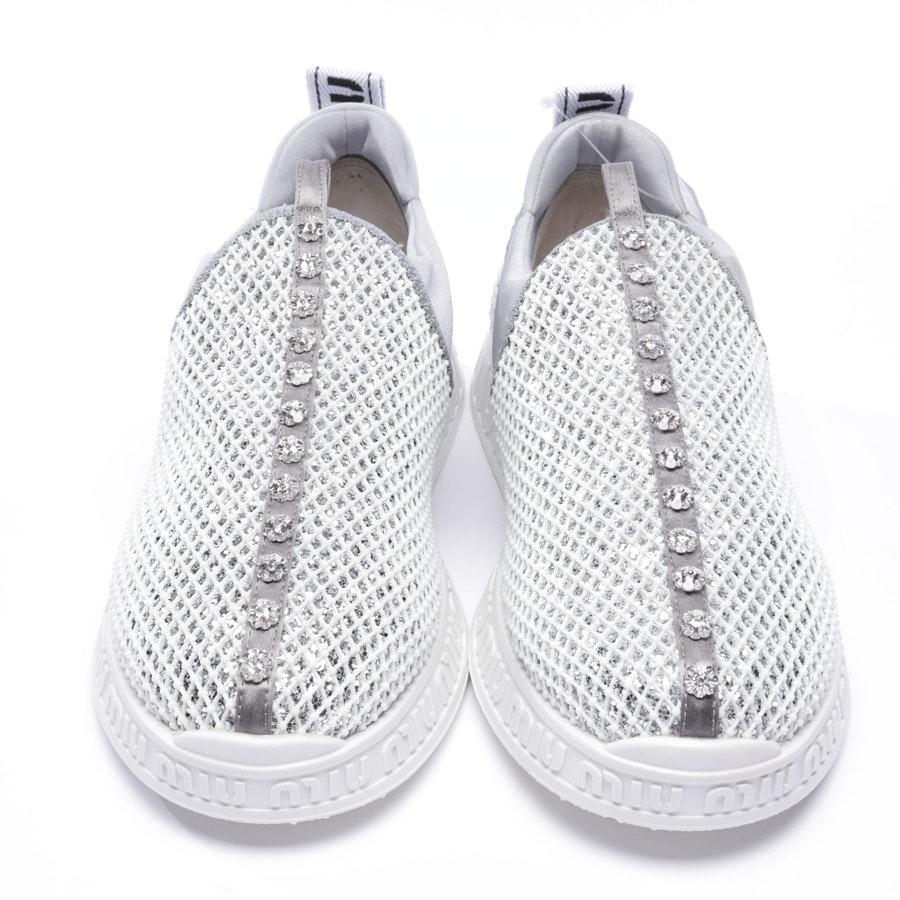 Sneaker von Miu Miu in Weiß und Silber Gr. EUR 37