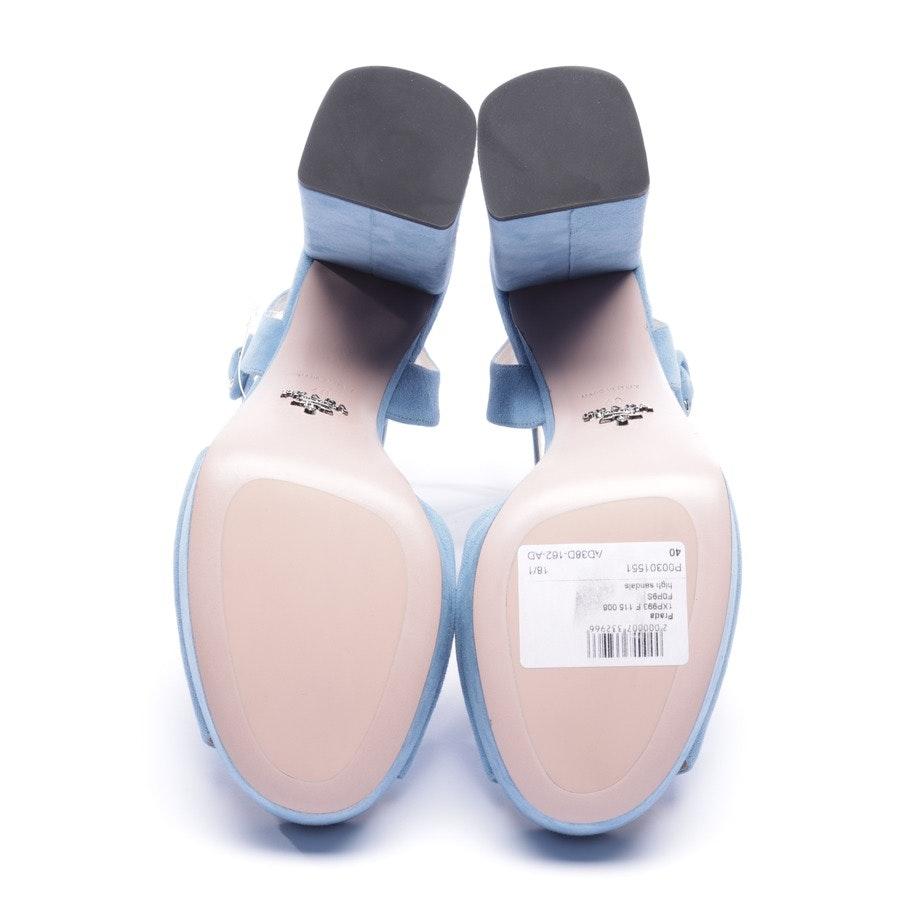 Sandaletten von Prada in Hellblau Gr. EUR 40 - Neu