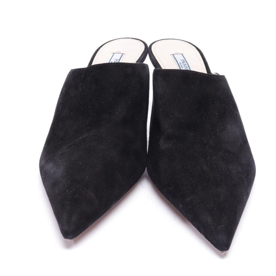 Pantoletten von Prada in Schwarz Gr. EUR 40