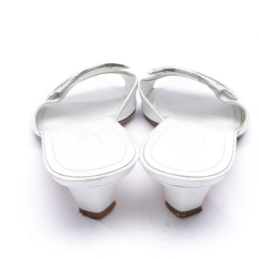 Pantoletten von Tod´s in Weiß Gr. D 36,5