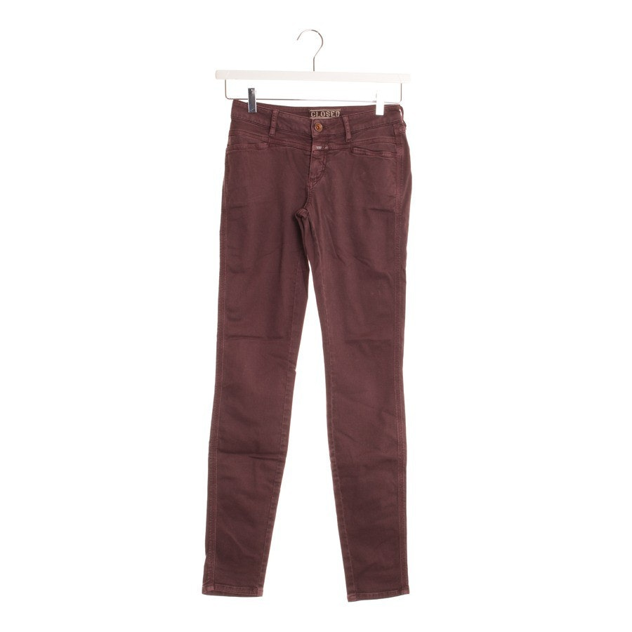 Jeans von Closed in Aubergine Gr. W25 - Modell Pedal Star