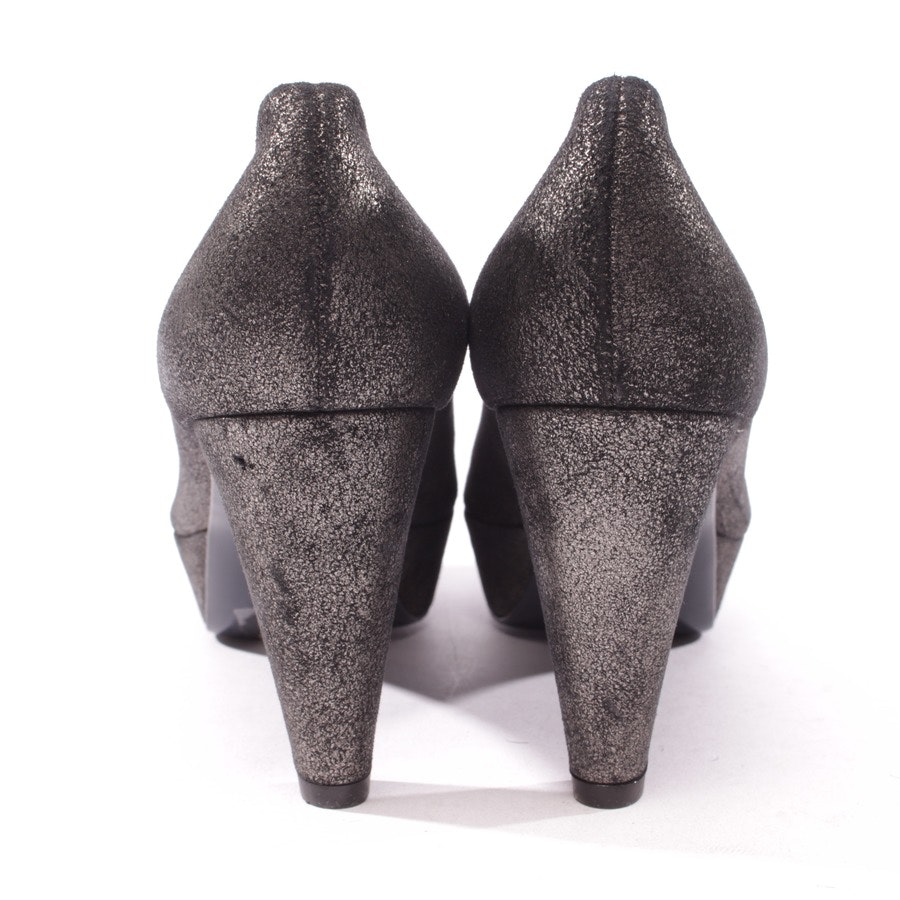 pumps from Kennel & Schmenger in silver and black size D 38 UK 5 - new!