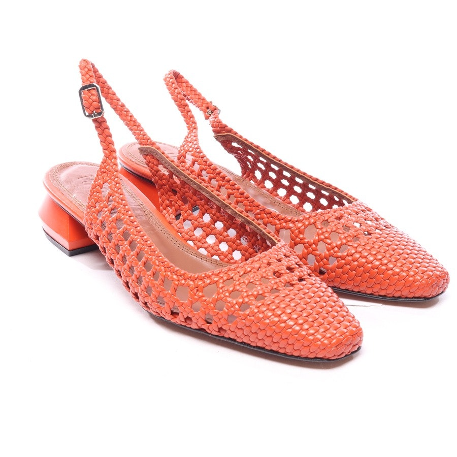 Slingbacks in Orange und Braun Gr. EUR 40 - Neu