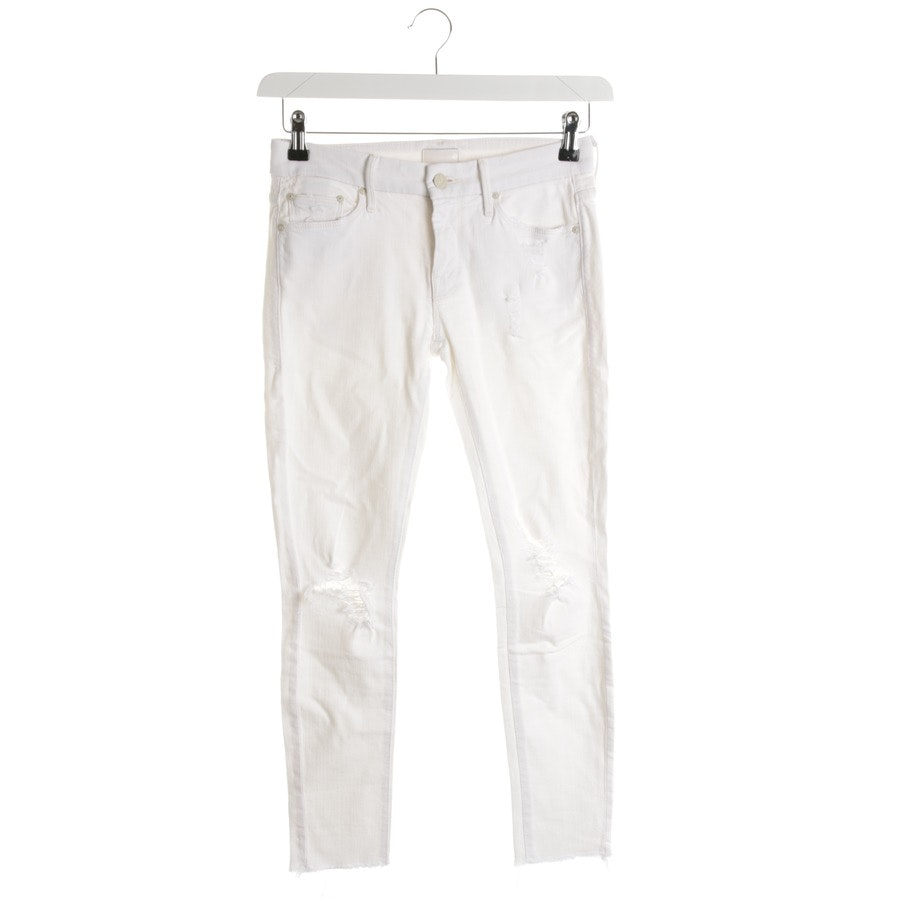 jeans from Mother in cream size W25 - looker ankle fray