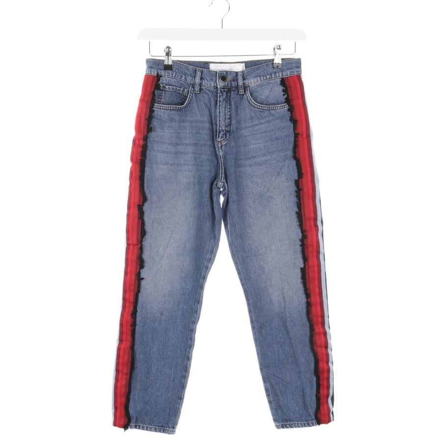 Jeans von Victoria Beckham in Blau und Rot Gr. W26