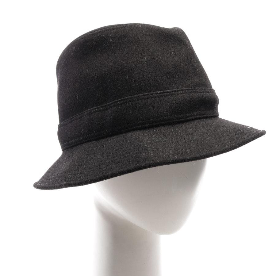 Kaschmirhut von Hermès in Schwarz Gr. 60