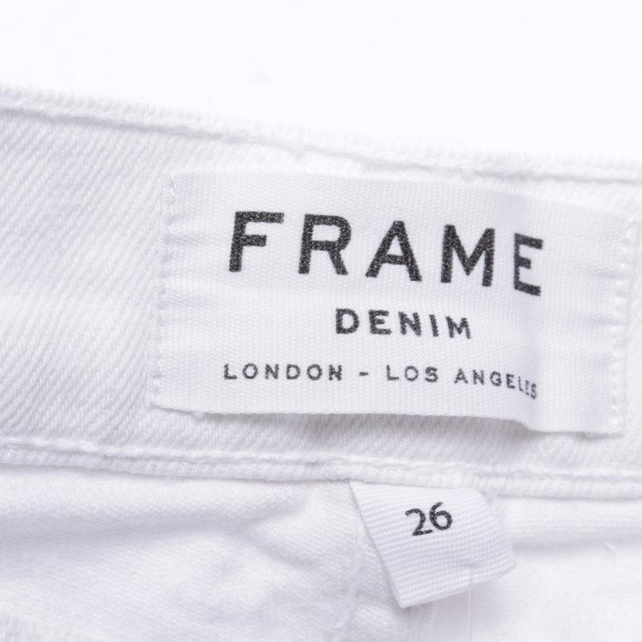 Jeans von Frame in Weiß Gr. W26 - Le Garcon