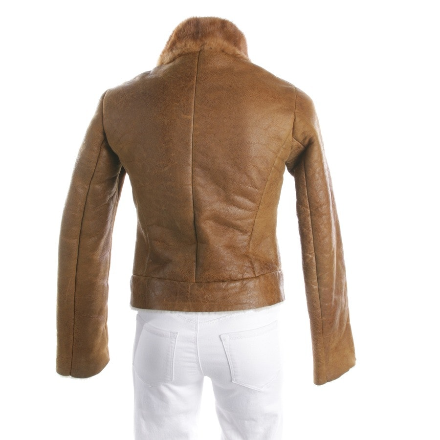 leather jacket from Prada in cognac size 34 IT 40