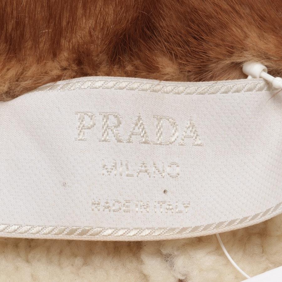 Lammlederjacke von Prada in Cognac Gr. 34 IT 40