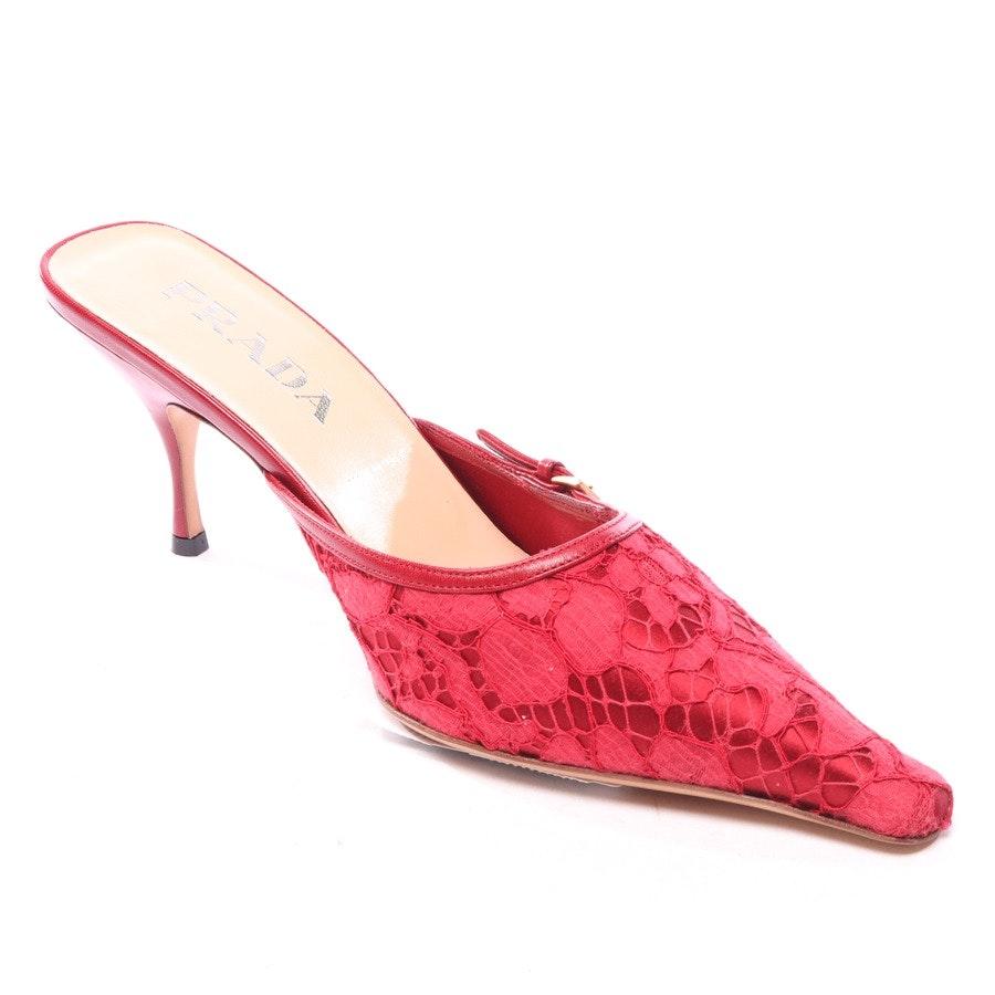 Pantoletten von Prada in Rot Gr. D 39,5 - Neu