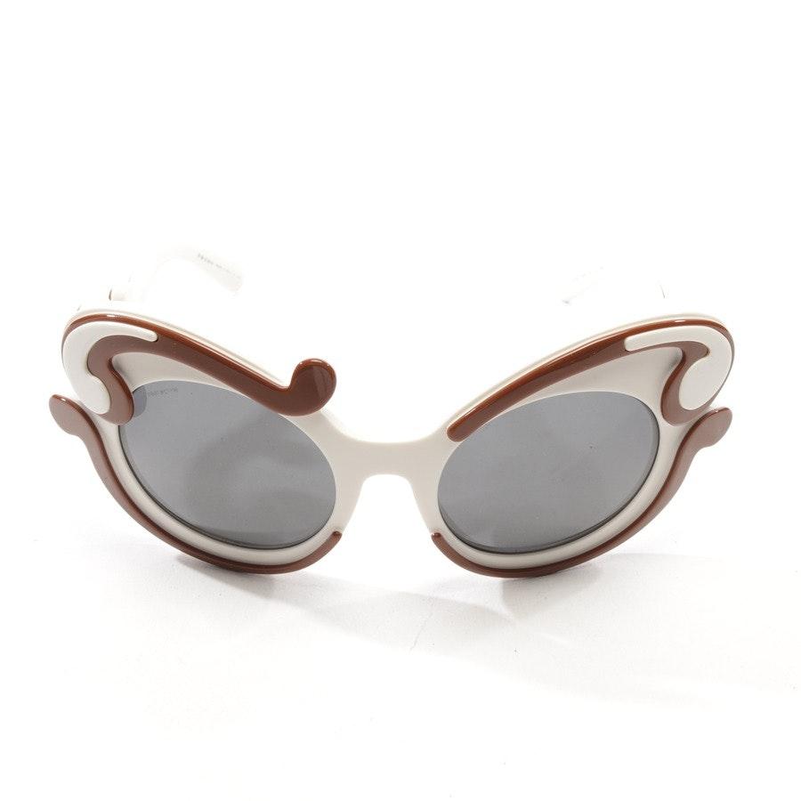 Sonnenbrille von Prada in Weiß und Braun