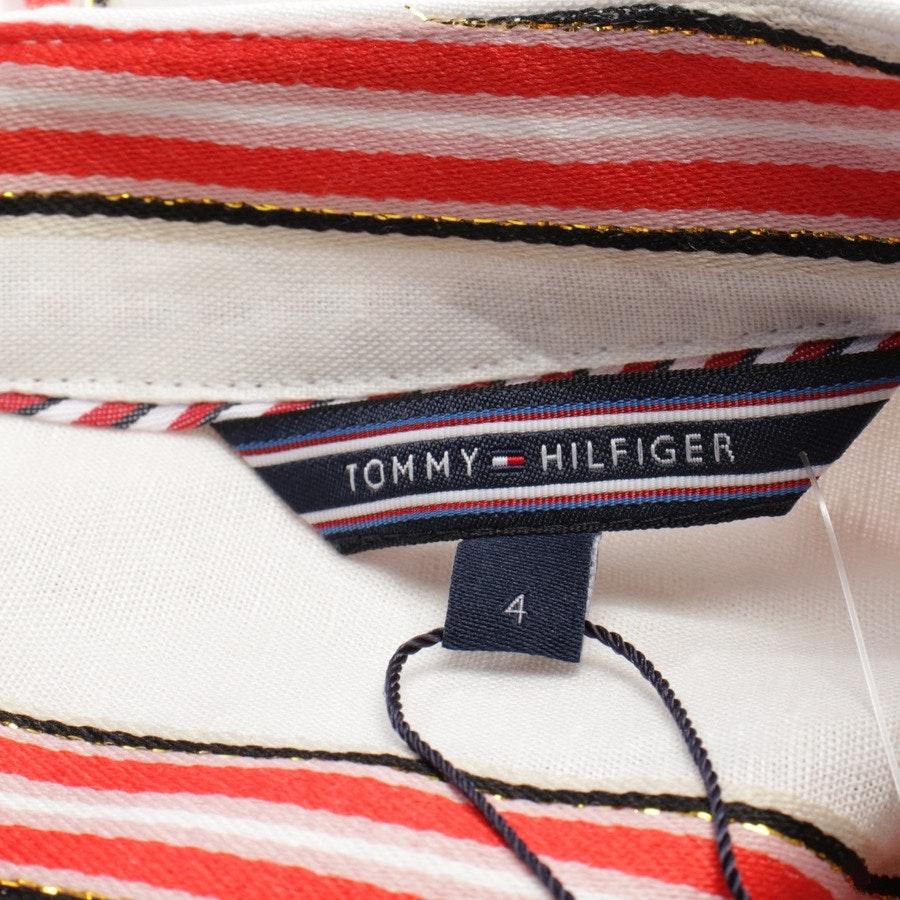 Midikleid von Tommy Hilfiger in Weiß und Rot Gr. 34 / 4 - Neu