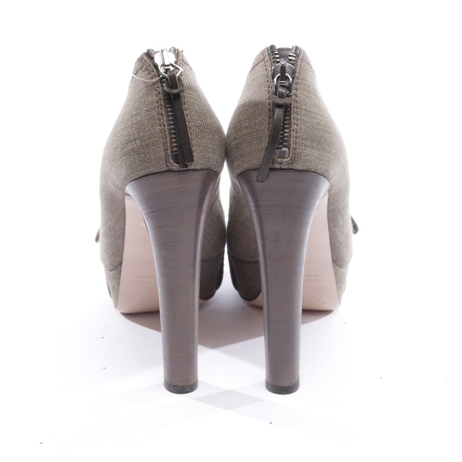 heeled sandals from Miu Miu in taupe size D 38,5
