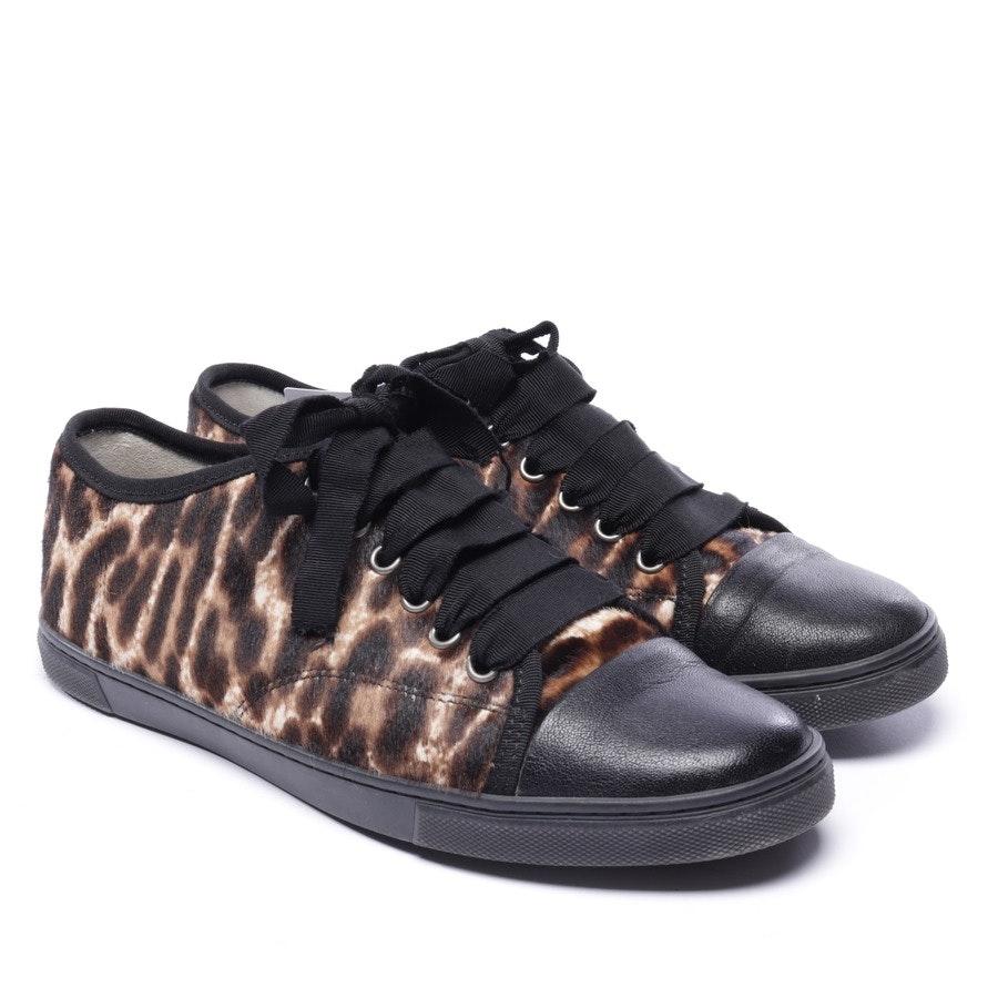 Sneakers von Lanvin in Beigebraun und Schwarz Gr. EUR 38