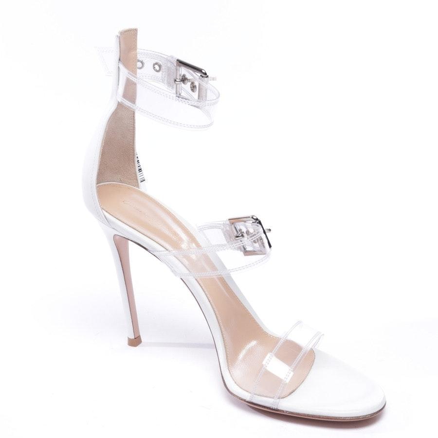 Sandaletten von Gianvito Rossi in Weiß Gr. EUR 40,5 - Neu