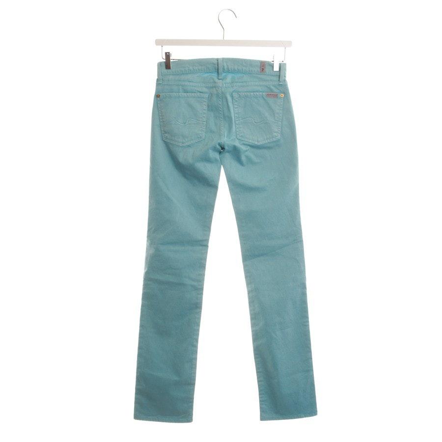 Jeans von 7 for all mankind in Türkis Gr. W27