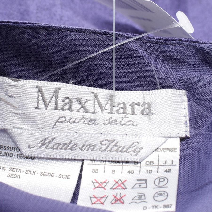 Seidenkleid von Max Mara in Lila und Schwarz Gr. 38