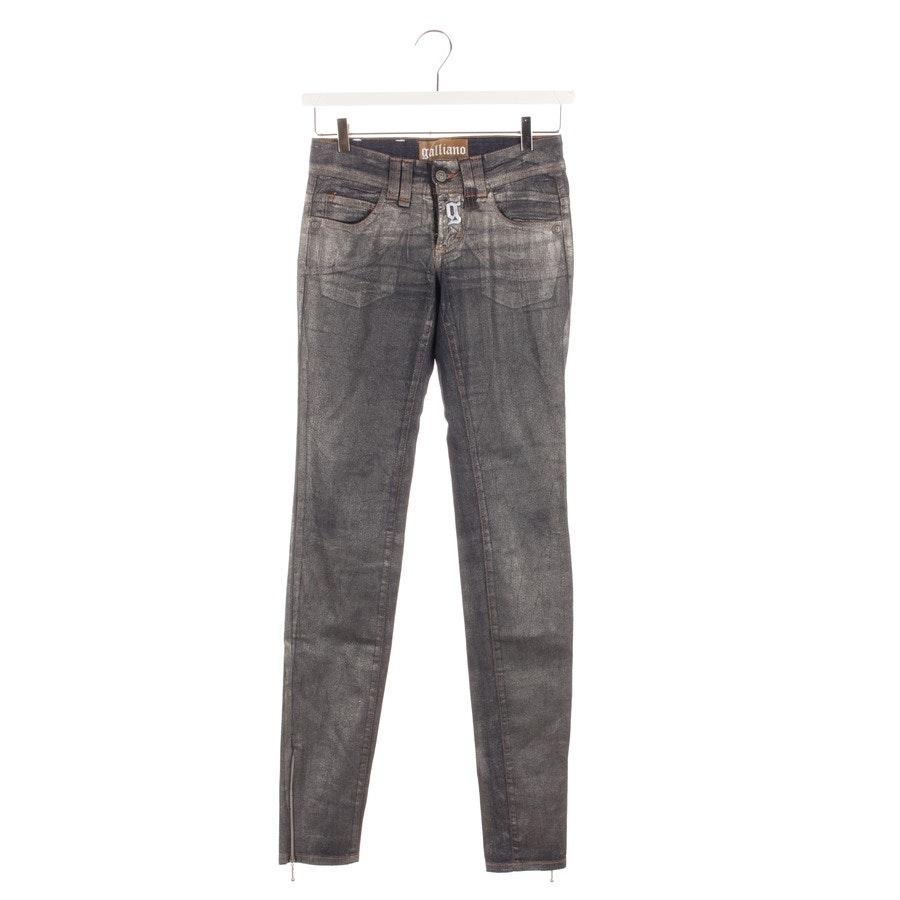Jeans von Galliano in Blau und Gold Gr. W24