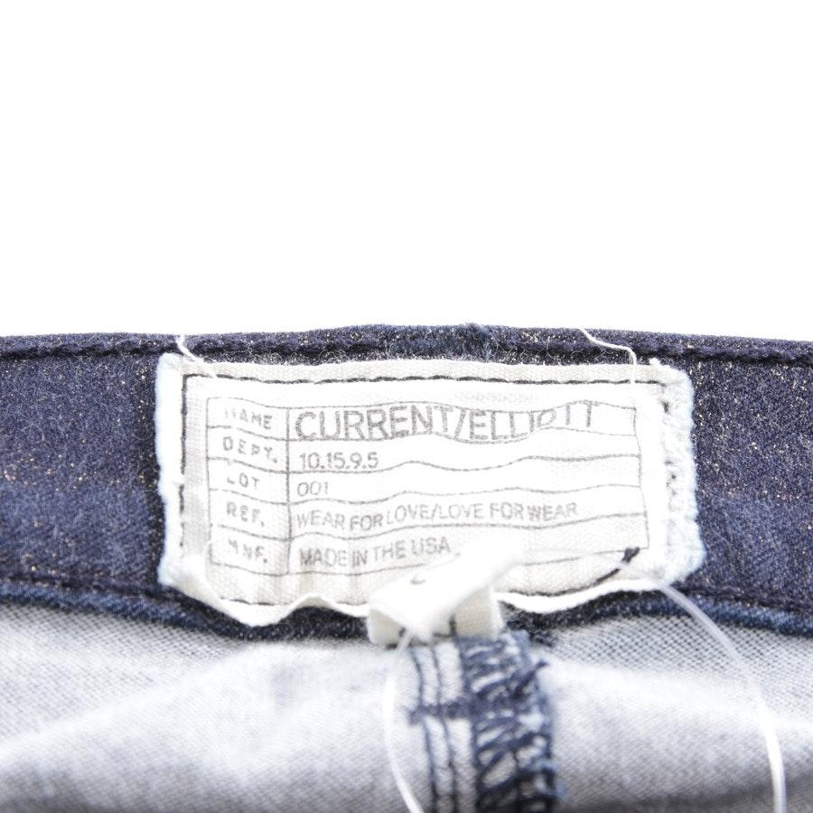 Jeans von Current/Elliott in Dunkelblau und Gold Gr. W26 - The Stiletto