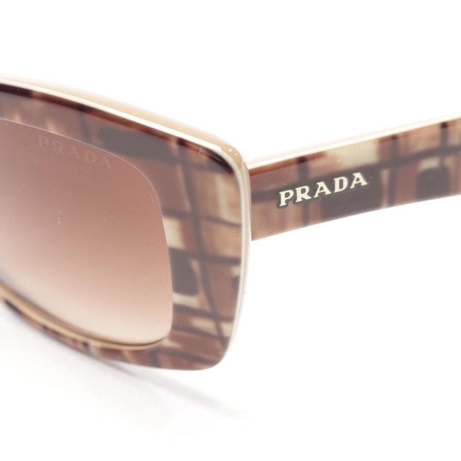 Sonnenbrille von Prada in Beigebraun und Schwarz - SPR 03N