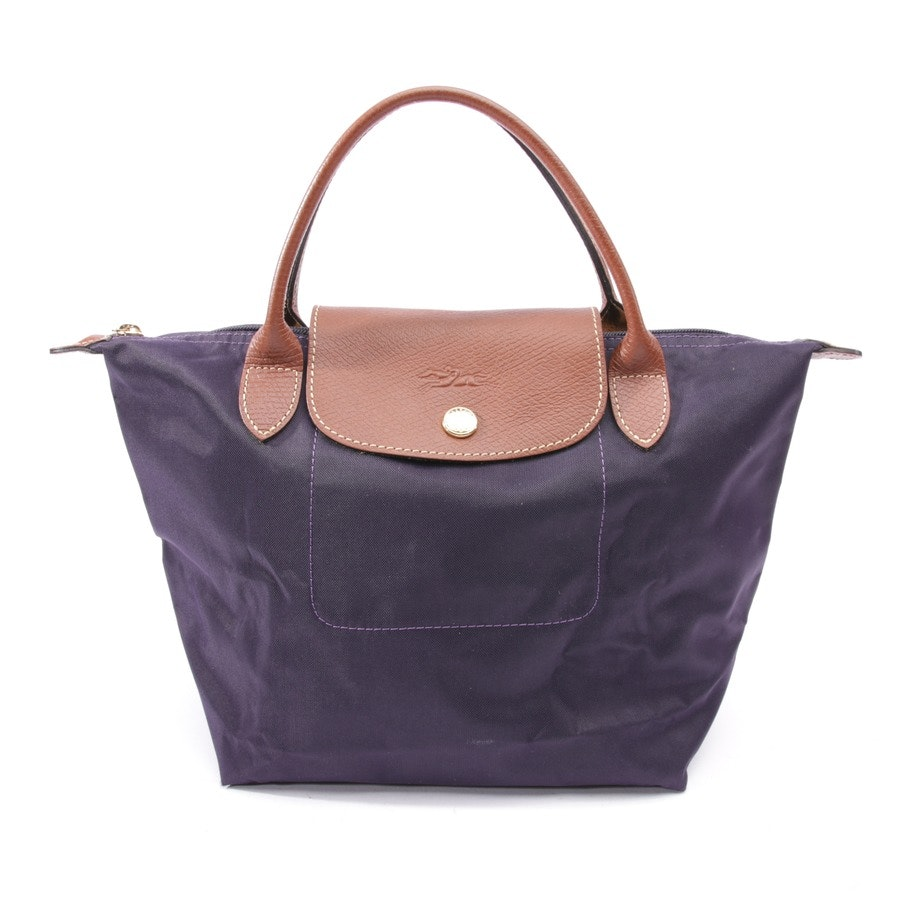 handbag from Longchamp in purple and brown - le pliage s