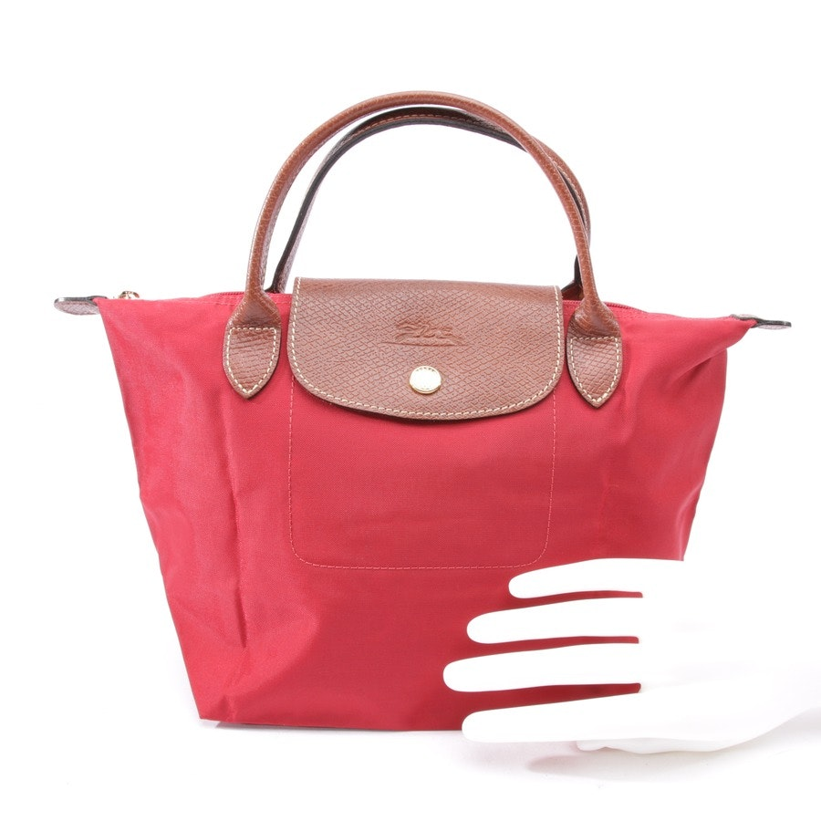 handbag from Longchamp in red and brown - le pliage s
