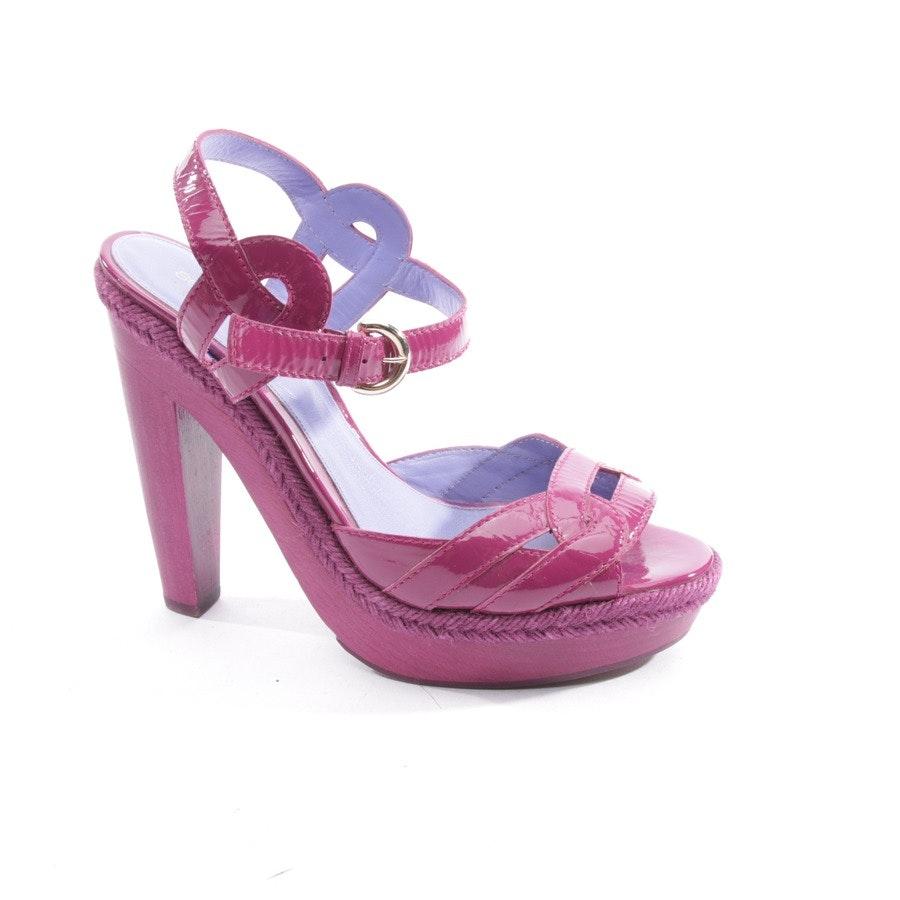 Sandaletten von Sergio Rossi in Magenta Gr. D 38