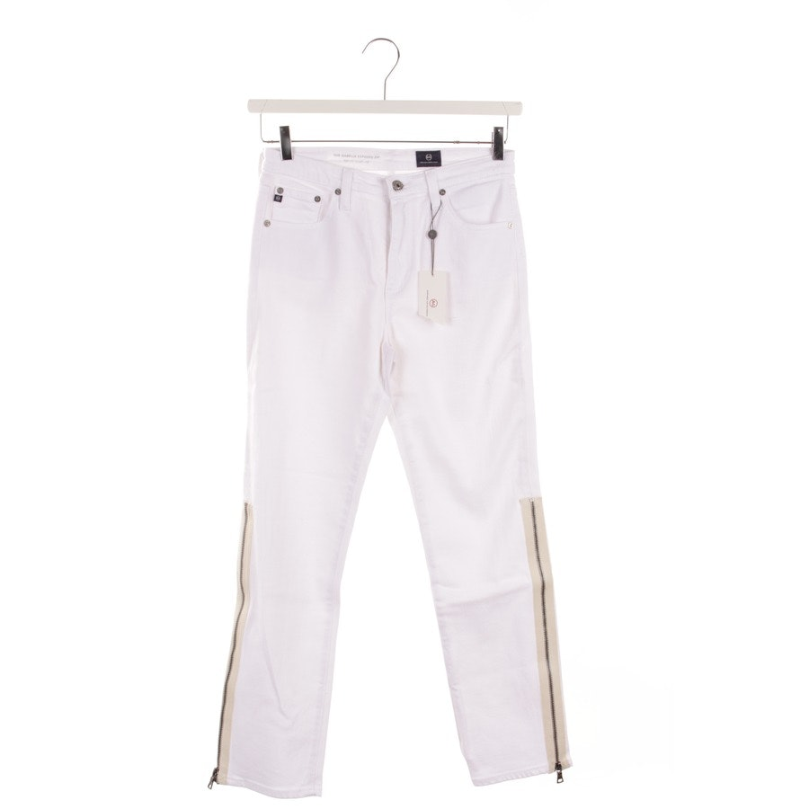 jeans from AG Jeans in white size W27 - new - the isabelle exposed zip high rise straight crop