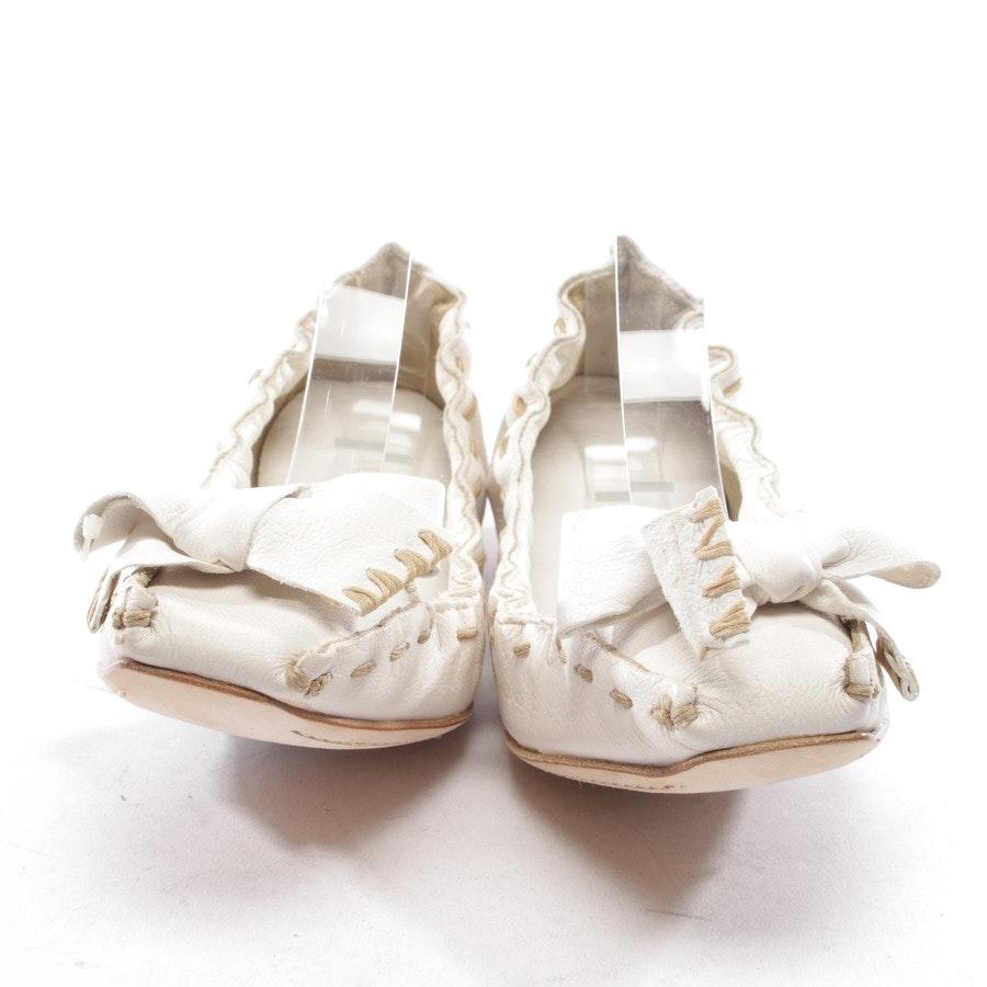 Ballerinas von Miu Miu in Weiß Gr. EUR 37 - Neu