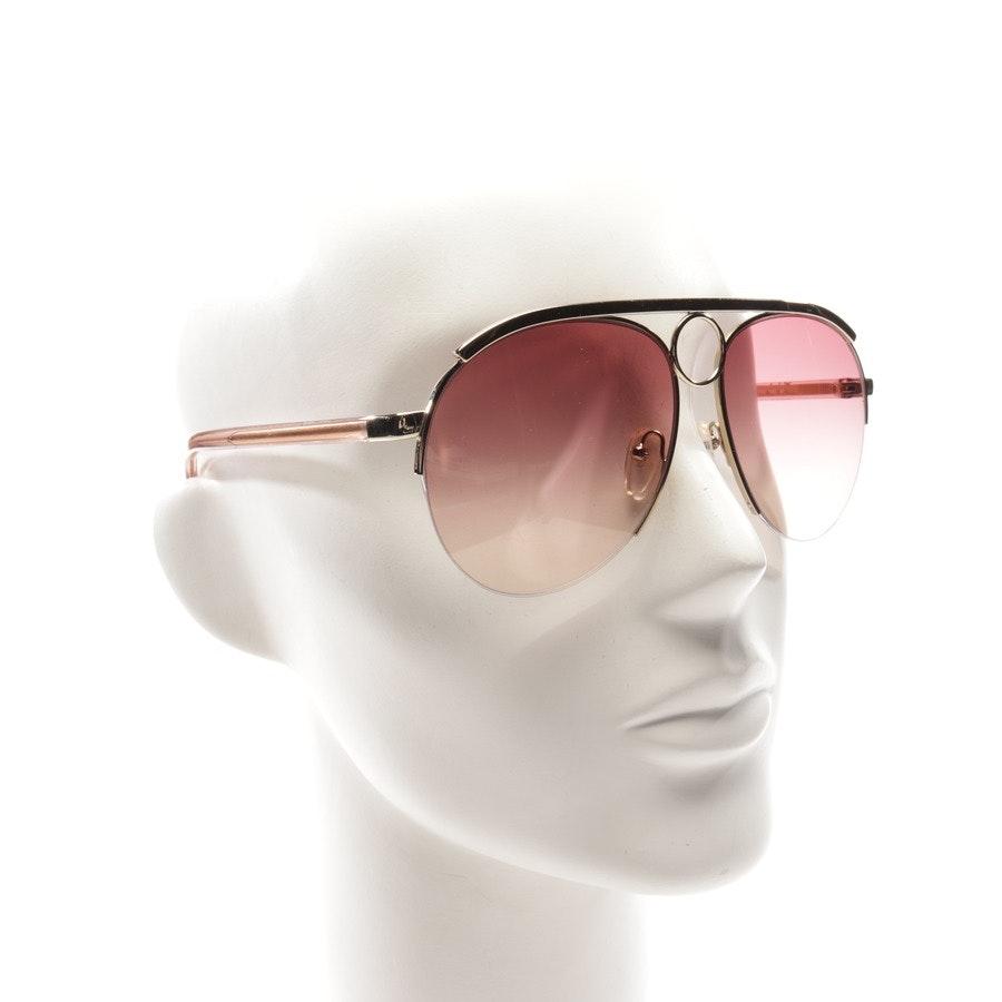 Sonnenbrille von Chloé in Gold und Rosa