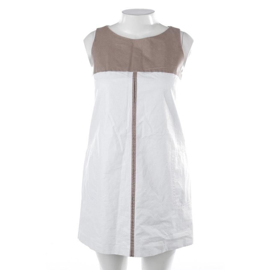 Kleid von Paule Ka in Weiß und Braun Gr. 40 FR 42