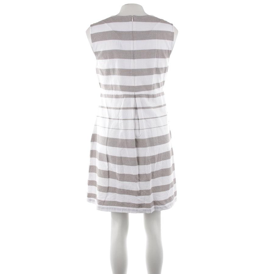 Kleid von Bruno Manetti in Taupe und Weiß Gr. 38 IT 44