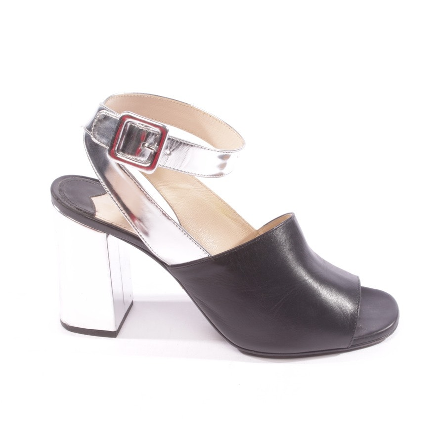 pumps from Prada in black and silver size D 37,5