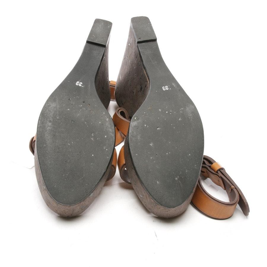 Sandaletten von Schumacher in Braun und Grau Gr. D 39