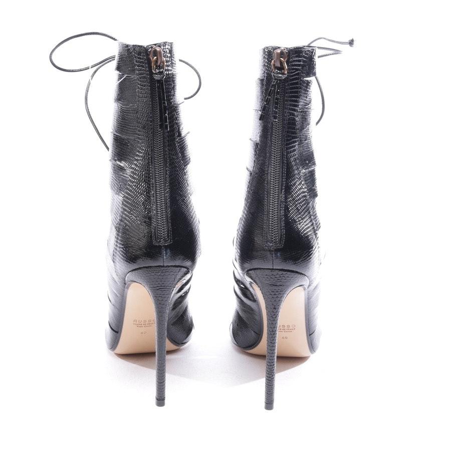 Sandaletten von Francesco Russo in Schwarz Gr. D 40 - NEU!